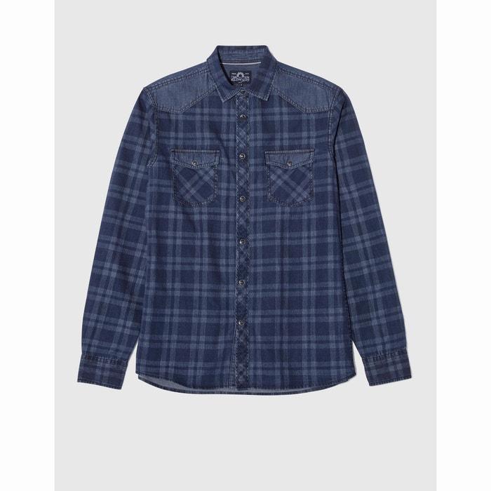 Image DAMIX Long-Sleeved Checked Shirt CELIO