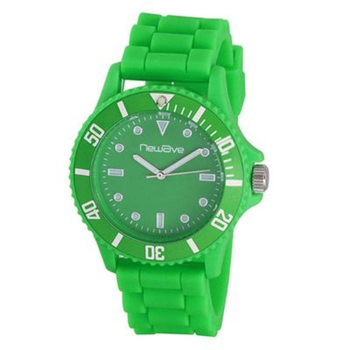 Montre analogique vert fluo (silicone) nwh214fv Sortie D'usine De Prix Pas Cher AfHrzM
