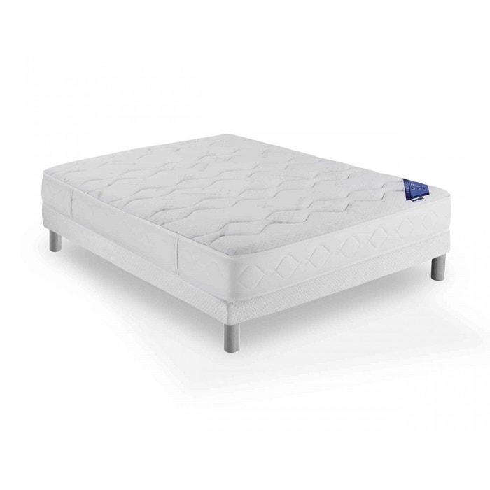 ensemble dunlopillo mousse connecting 2 sommier pieds. Black Bedroom Furniture Sets. Home Design Ideas