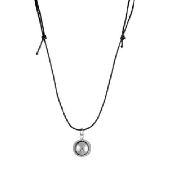 collier cordon longueur r glable 70 100 cm bola de grossesse boule musicale acier so chic. Black Bedroom Furniture Sets. Home Design Ideas