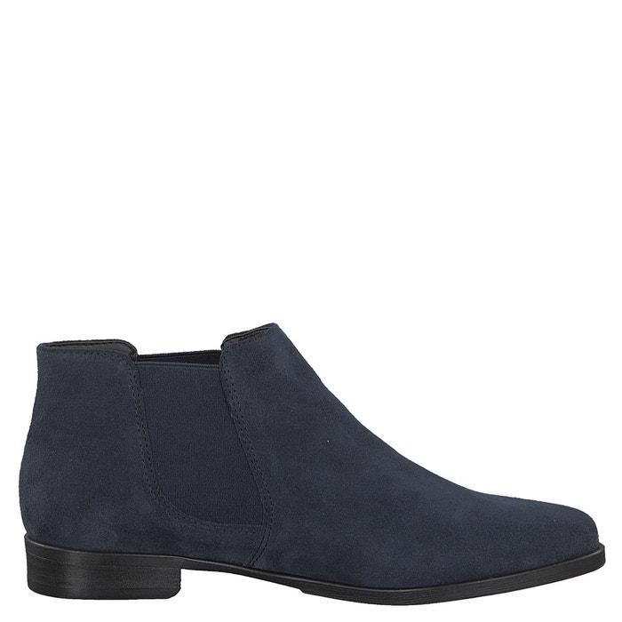 Boots cuir lia  bleu marine Tamaris  La Redoute