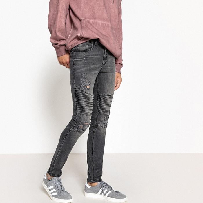 Jeans taglio skinny destroy stile biker  La Redoute Collections image 0