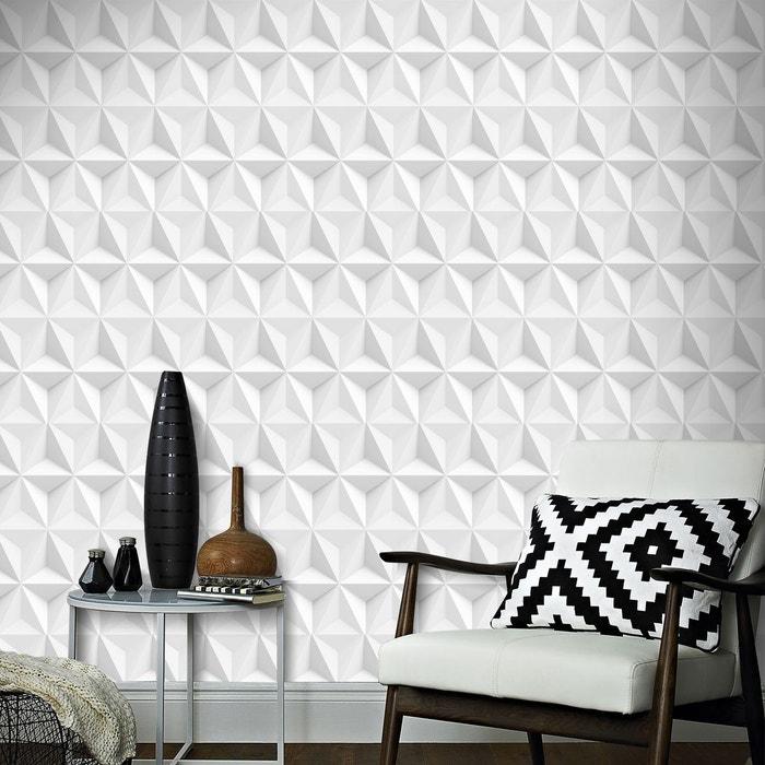 Boutique Papier Peint Support Intisse Origami Gravure 1005 X 52 Cm