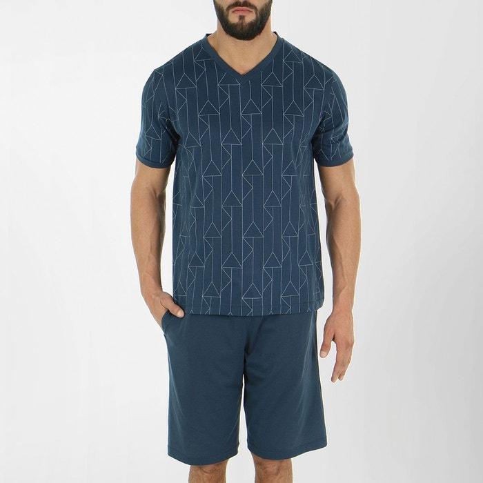 pyjama court homme zen motif ardoise eminence la redoute. Black Bedroom Furniture Sets. Home Design Ideas