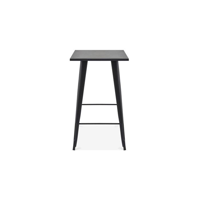 Table haute de jardin en métal style industriel