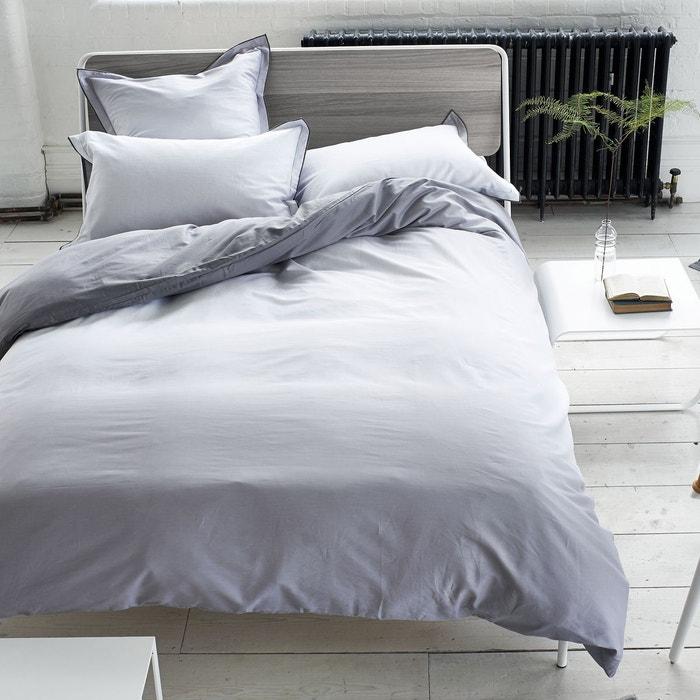 taie d 39 oreiller saraille en satin de coton zinc zinc designers guild la redoute. Black Bedroom Furniture Sets. Home Design Ideas
