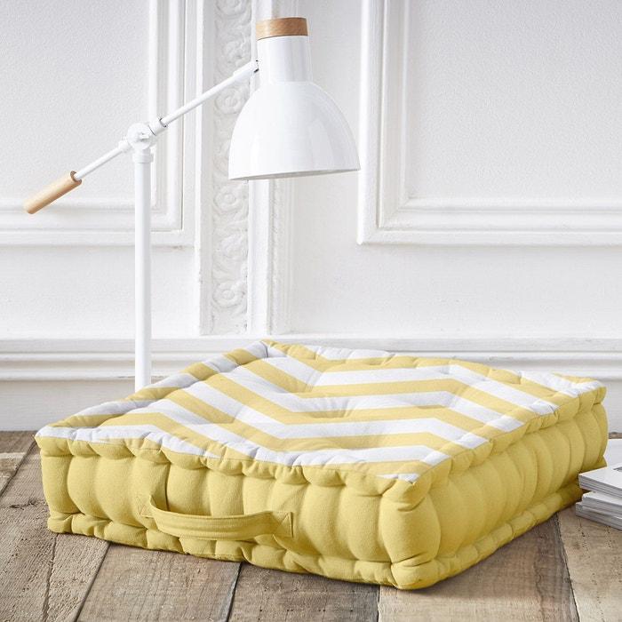 coussin de sol jaune california jaune i fil home la redoute. Black Bedroom Furniture Sets. Home Design Ideas