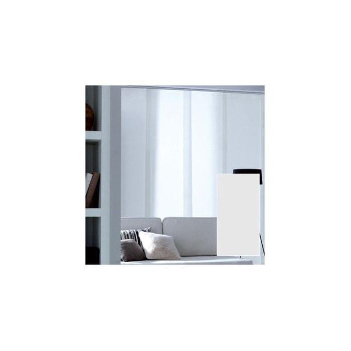 panneau japonais voile uni blanc madeco la redoute. Black Bedroom Furniture Sets. Home Design Ideas