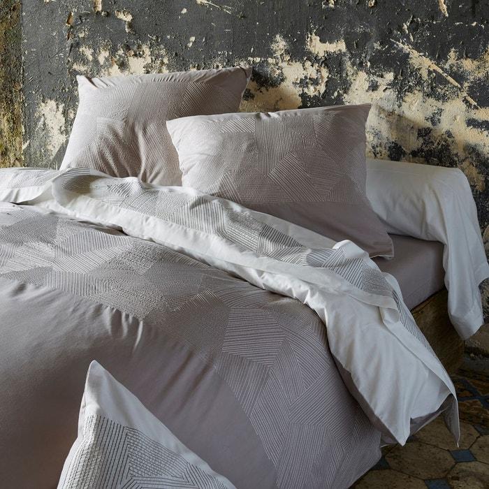 drap plat empreintes blanc sylvie thiriez la redoute. Black Bedroom Furniture Sets. Home Design Ideas