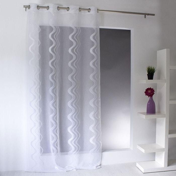 voilage jacquard rayures ondul es et verticales home maison la redoute. Black Bedroom Furniture Sets. Home Design Ideas