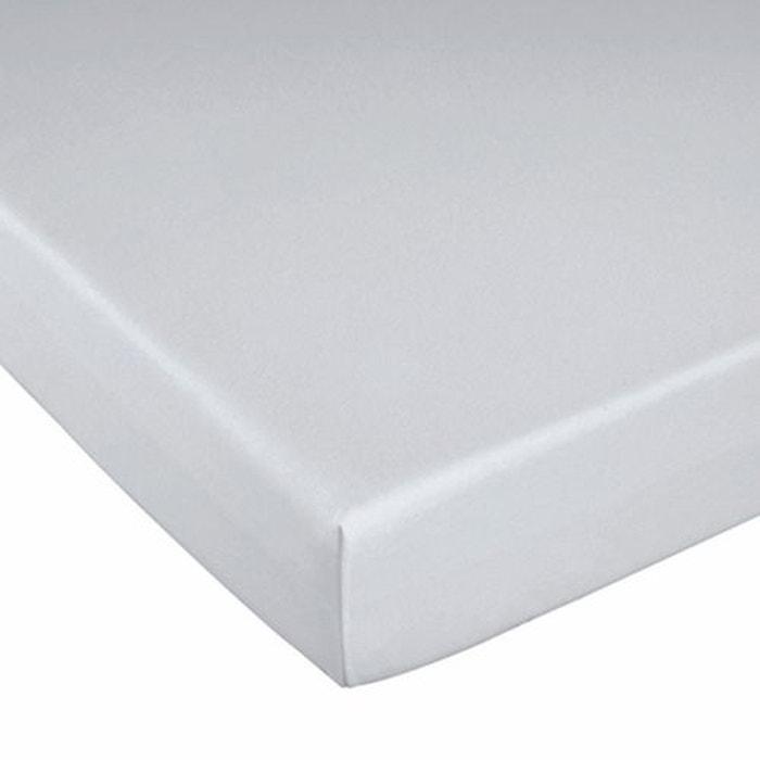 drap housse en jersey tencel imperm able lyocell blanc la redoute interieurs la redoute. Black Bedroom Furniture Sets. Home Design Ideas