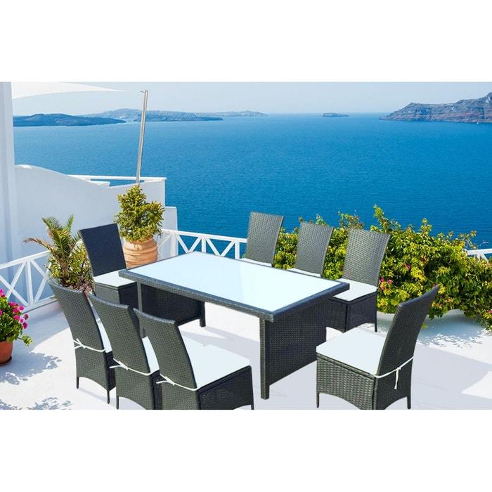 Zagora 8 table de jardin 8 personnes 8 chaises en - La redoute table de jardin en resine tressee ...