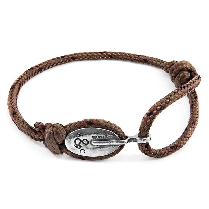Bracelet london argent et corde Anchor & Crew   La Redoute Bon Marché De Nouveaux Styles Meilleur Magasin Pour Obtenir À Vendre Grande Vente Manchester À Vendre 6Ml5zU1L4F