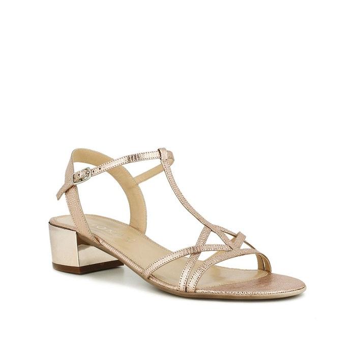 Sandales à talons en cuir imprimé reptileJonak aFfLOjmzFG