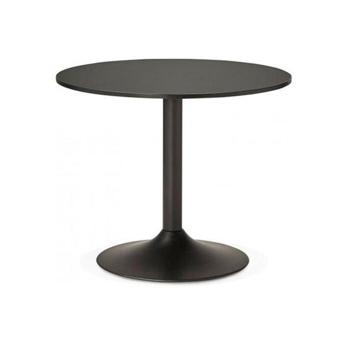 table ronde bois noire d90 albury noir declikdeco la redoute. Black Bedroom Furniture Sets. Home Design Ideas
