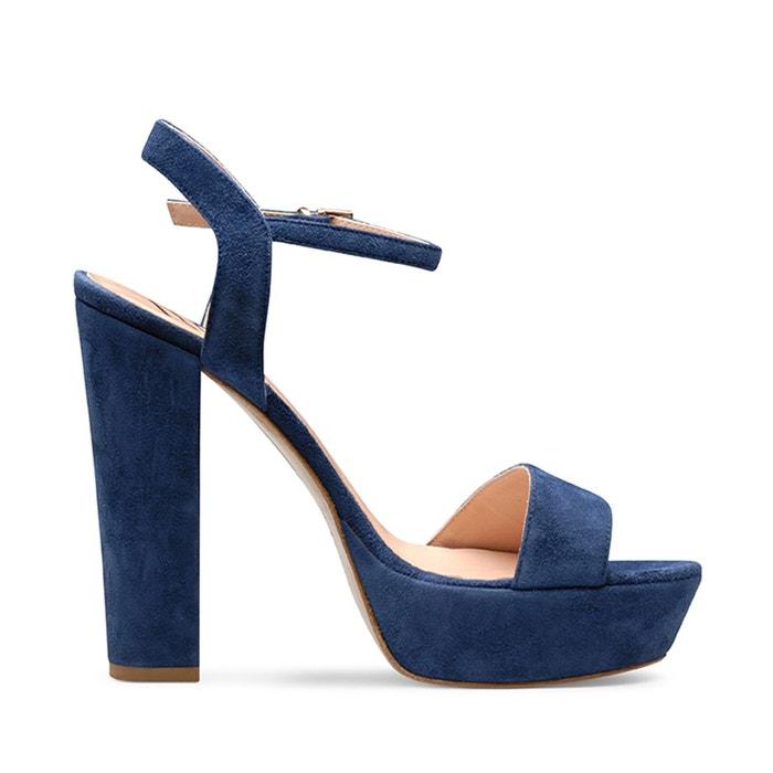 Sandales femme bleu foncé Evita