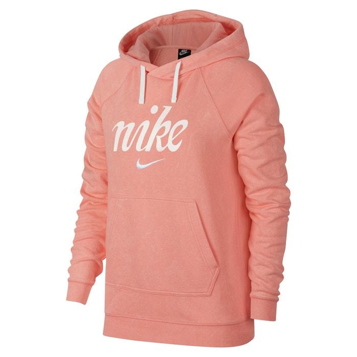 0ae1cb9b31 Sweat à capuche logo poitrine Nike rose corail | La Redoute