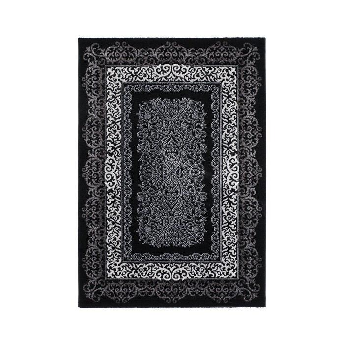 tapis brillant style baroque noir argentum noir allotapis la redoute. Black Bedroom Furniture Sets. Home Design Ideas