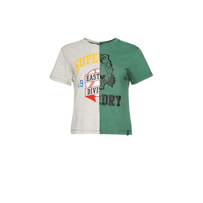e43c452eb36f3 Back Corner Chiné SuperdryLa Redoute Vert Omegagris Jock Shirt T 1KFJ3Tluc