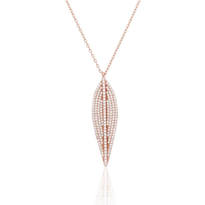 Collier argent 925/1000 oxyde blanc Cleor | La Redoute Boutique En Ligne Pas Cher X4aTubQR