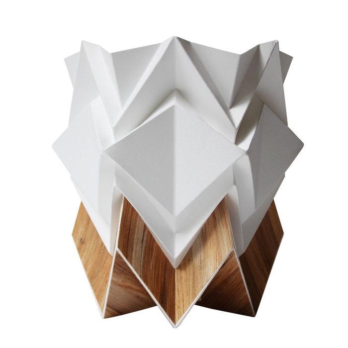 cache pot origami design en papier et tronc de bananier recycl blanc tedzukuri atelier la redoute. Black Bedroom Furniture Sets. Home Design Ideas