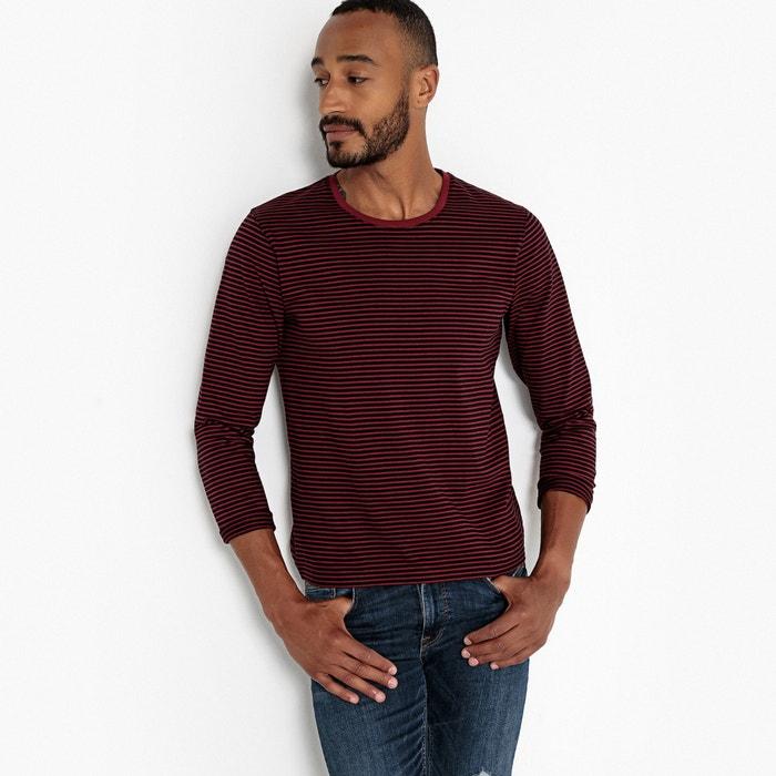 T-shirt scollo rotondo maniche lunghe a righe  La Redoute Collections image 0