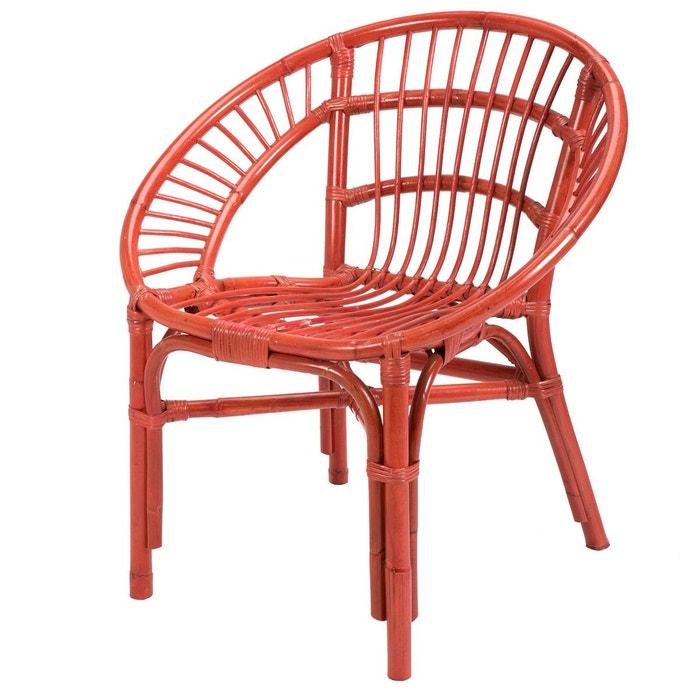 Fauteuil en rotin rouge lerida rotin design rouge rotin design la redoute - La redoute fauteuil rotin ...