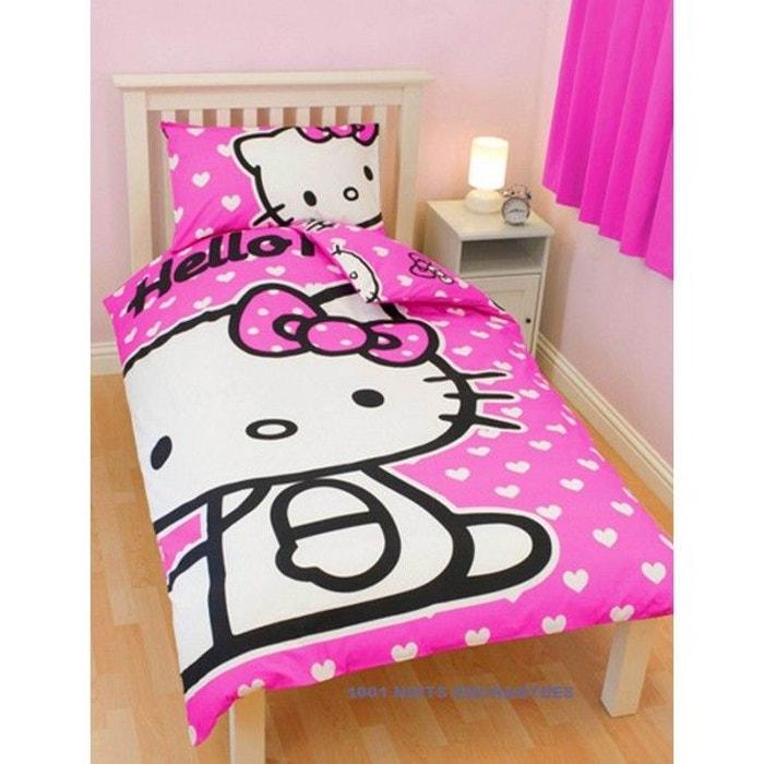 Parure de lit hello kitty hearts multicolore hello kitty la redoute - La redoute parure de lit ...