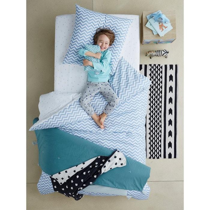 parure housse de couette taie d 39 oreiller enfant chevrons triangles vertbaudet la redoute. Black Bedroom Furniture Sets. Home Design Ideas