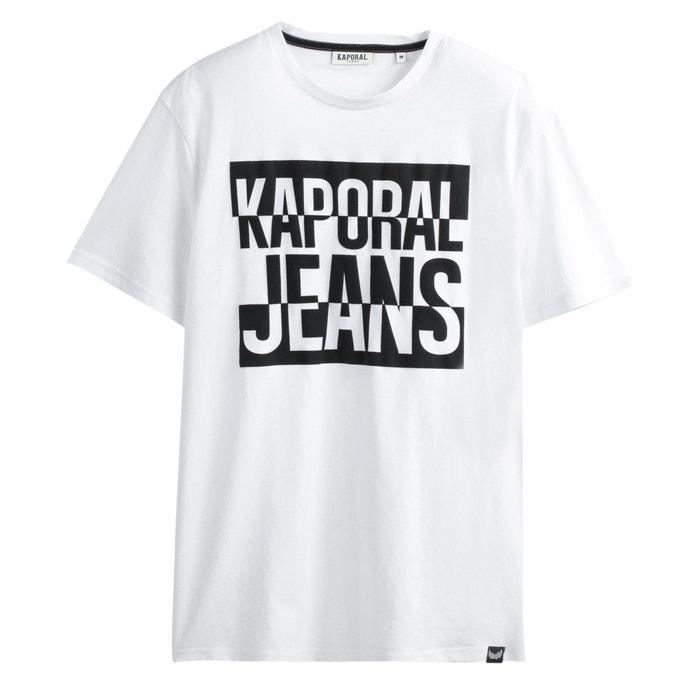 T Shirt Poggo mit rundem Ausschnitt und Aufdruck auf der Brust