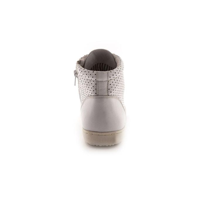 Baskets montantes en cuir largeur confort Pediconfort