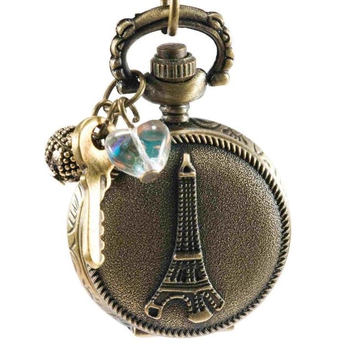 Montre sautoir à gousset style vintage, Eiffel  EXOTIC EXPRESS image 0