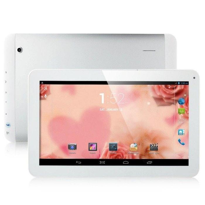 tablette tactile 10 pouces 3g double sim quad core wifi gps 24go blanc blanc yonis la redoute. Black Bedroom Furniture Sets. Home Design Ideas