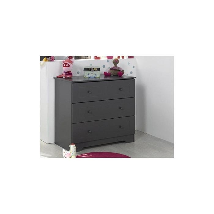 commode b b et enfant oslo gris anthracite chambrekids la redoute. Black Bedroom Furniture Sets. Home Design Ideas