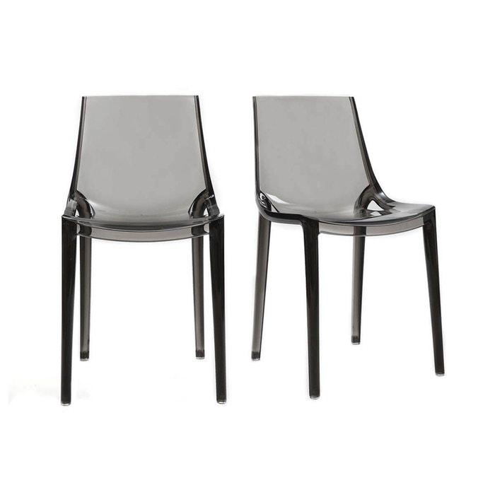 chaises design lot de 2 int rieur ext rieur yzel fum. Black Bedroom Furniture Sets. Home Design Ideas