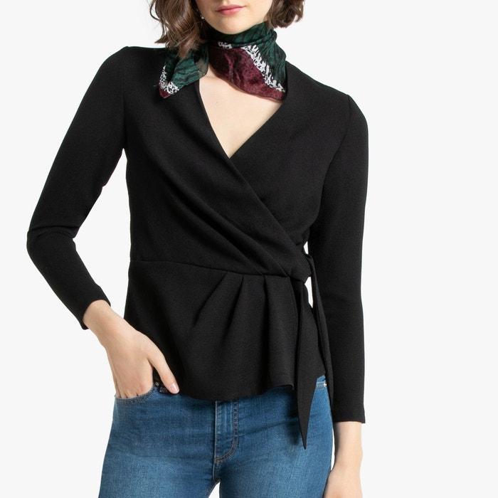 blouse-faux-cache-cœur-manches-longues by la-redoute-collections