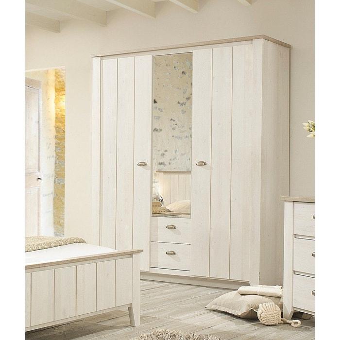 armoire effet cerisier blanchi et ch ne gris ar5005 terre de nuit bois naturel terre de nuit. Black Bedroom Furniture Sets. Home Design Ideas