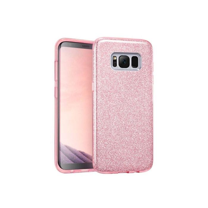 coque en silicone rose pour galaxy s8