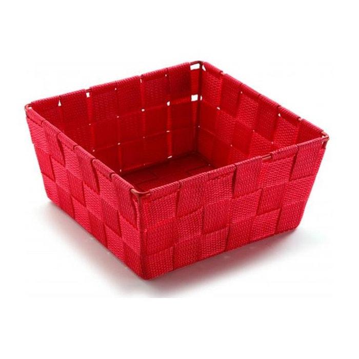 Panier Linge Nylon Tressé : Panier carr? en nylon rouge l xl cm victor