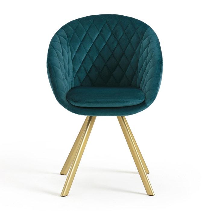 Table velours vintage luxore bleu la redoute interieurs la redoute - La redoute chaises salle a manger ...