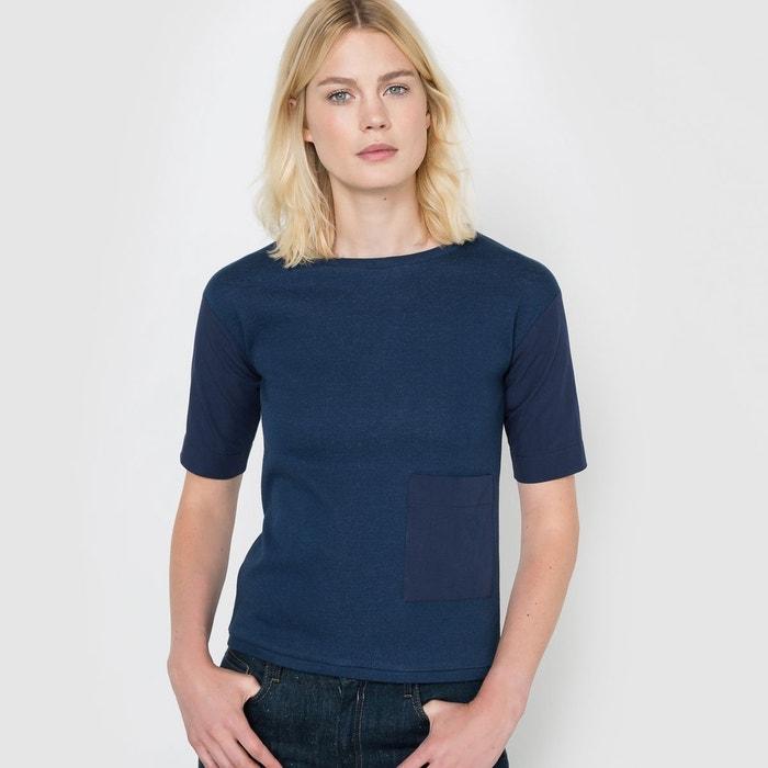 T-shirt aspect denim R studio