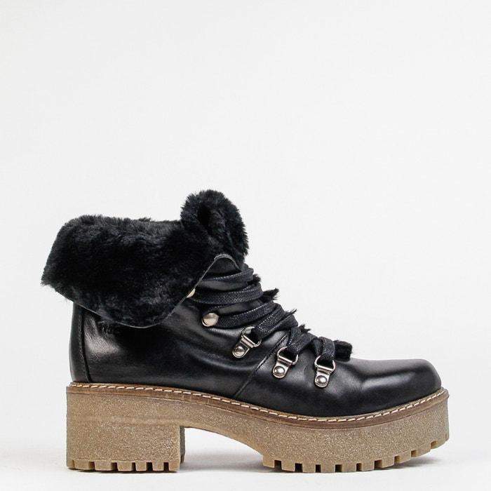 Monty Platform Leather Boots