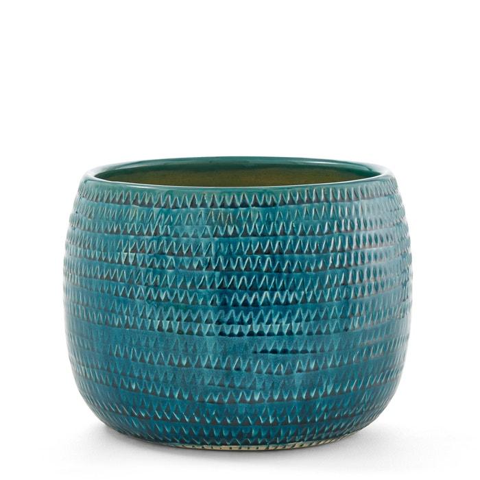bloempot in keramiek 30 x h23 cm joanis blauw am pm la redoute. Black Bedroom Furniture Sets. Home Design Ideas