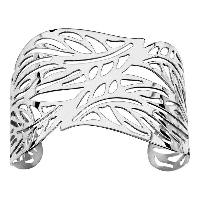 Bracelet manchette feuille acier inoxydable couleur unique So Chic Bijoux   La Redoute Magasin D'usine Où Trouver P76vw