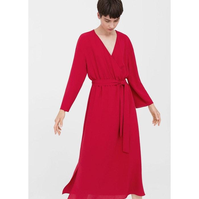 robe cache c ur n ud rouge mango la redoute. Black Bedroom Furniture Sets. Home Design Ideas