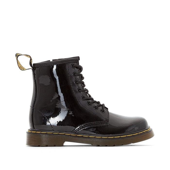 boots cuir verni lacets delaney noir dr martens la redoute. Black Bedroom Furniture Sets. Home Design Ideas