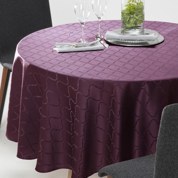 nappe ronde salom jacquard damass motif la redoute. Black Bedroom Furniture Sets. Home Design Ideas