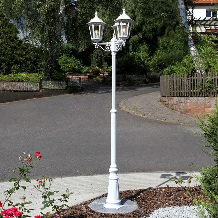 lampadaire blanc trois lampes lieva blanc transparent lampenwelt la redoute. Black Bedroom Furniture Sets. Home Design Ideas
