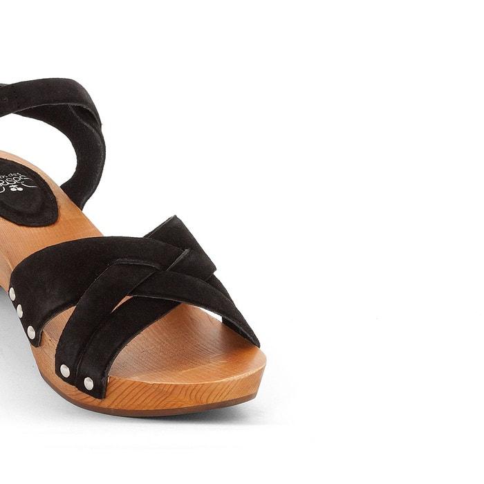 Sandales kota noir Le Temps Des Cerises