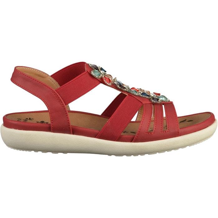 Sandales rouge Rieker Vente Pas Cher Fiable YzCVJd1f